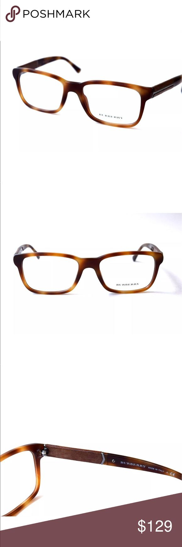 BURBERRY Eyeglasses Brown Horn Wooden accents Brown Horn Wooden accents Burberry Eyeglasses  Burberry Eyeglasses for Prescription lenses  SIZE: 55mm - 18mm - 140mm  🦋100% Authentic!!!  🦋Includes a Burberry Case. No Tags Burberry Accessories Glasses