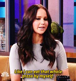 no one loves pizza more than jlaw.