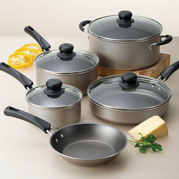 Details About Cookware Set 9 Piece Nonstick Pots And Pans Kitchen