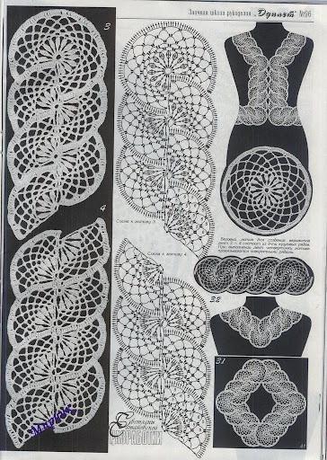 beautiful crochet edging- chart - pattern