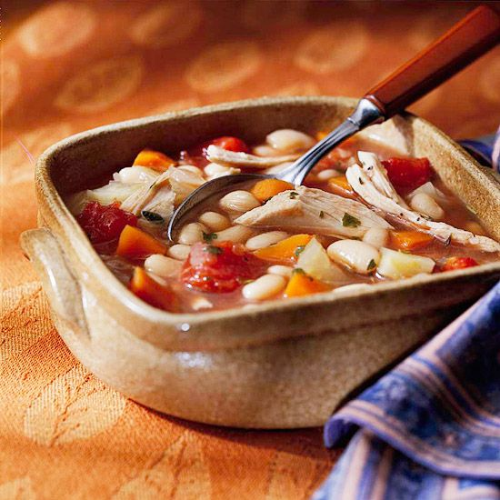 Chicken and Vegetable Bean Soup