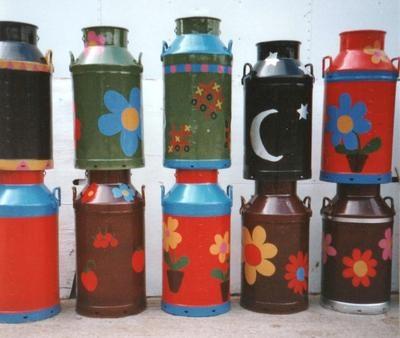 Look what I found Garden patio Painted milk churn planter on eBay http://www.ebay.co.uk/itm/140979499887?ssPageName=STRK:MESELX:IT&_trksid=p3984.m1555.l2649