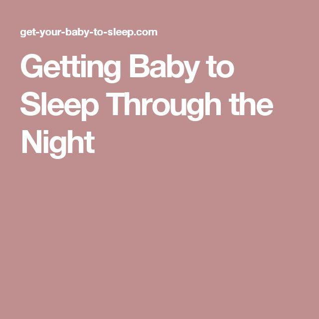 Getting Baby to Sleep Through the Night
