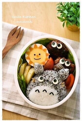 Totoro onigiri bento