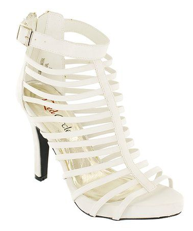 Another great find on #zulily! White Amauri Sandal #zulilyfinds