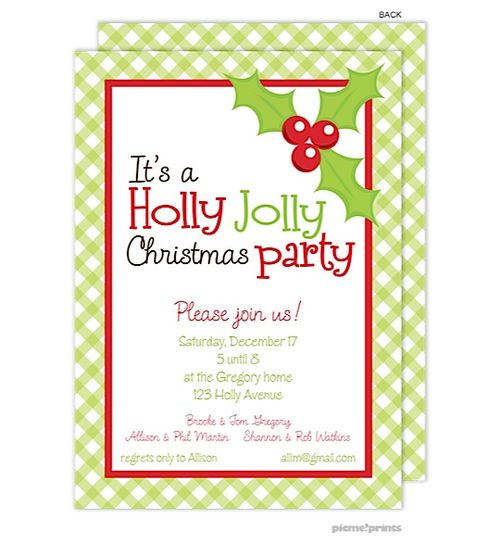 Work Christmas Party Invites: Holiday Festive Party Invitations Available From Note