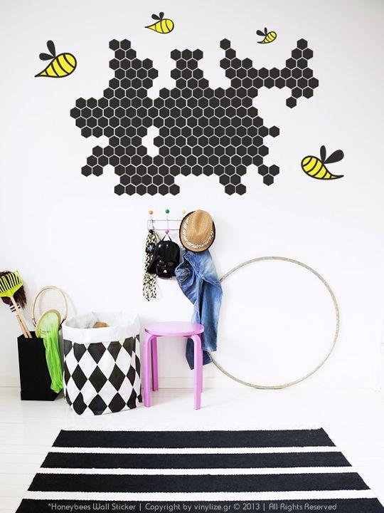 Vinylize Wall Deco - Honeybees Wall Sticker