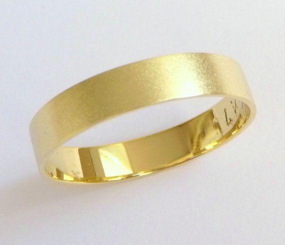 Gold+wedding+ring+men's+wedding+band+women's+wedding+by+havalazar,+$245.00