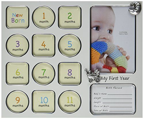 Fashioncraft My First Year Baby Photo Collage Frame *** Learn more by visiting the image link.