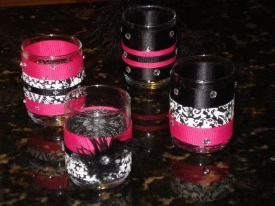 Hot pink  Black Damask wedding wedding-ideas