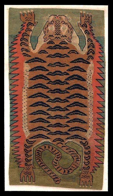 "androphilia: "" Tiger Rug, Tibet, 19th Century """