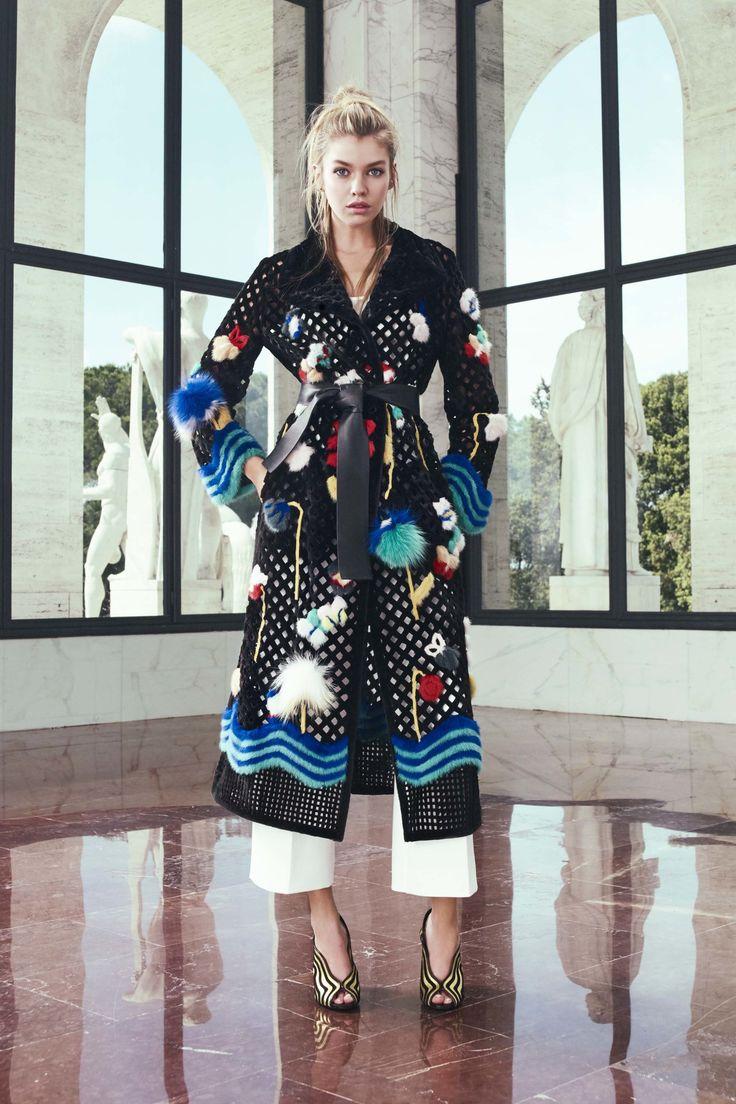 Resort 2017   Fendi   Mink crochet flower and butterfly duster coat   The Luxe Lookbook