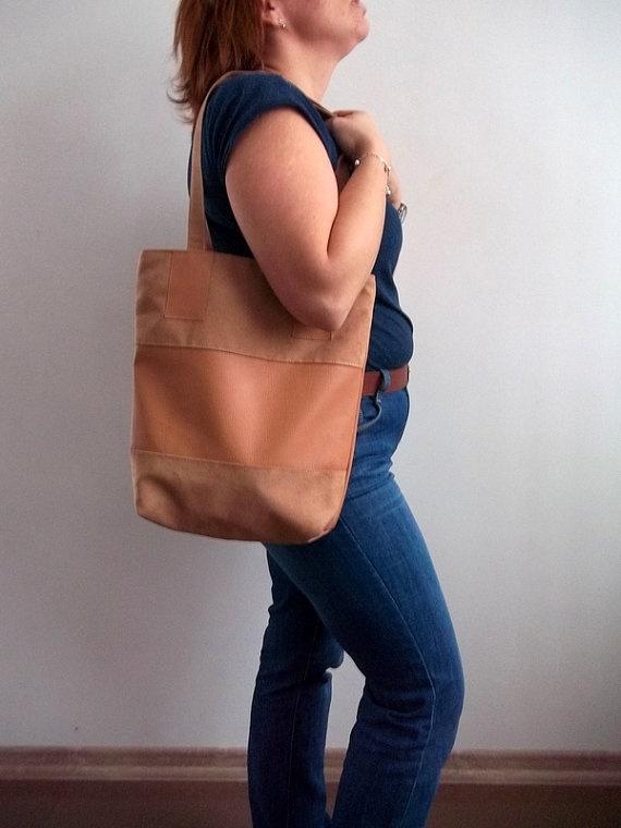 Shoulder Bag Eco leather Ecosuede HOBO BirthdayGift by ILAJLA, $27.00
