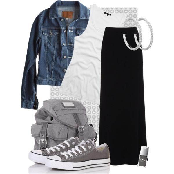 17 Best ideas about Black Maxi Skirts on Pinterest | Black maxi ...