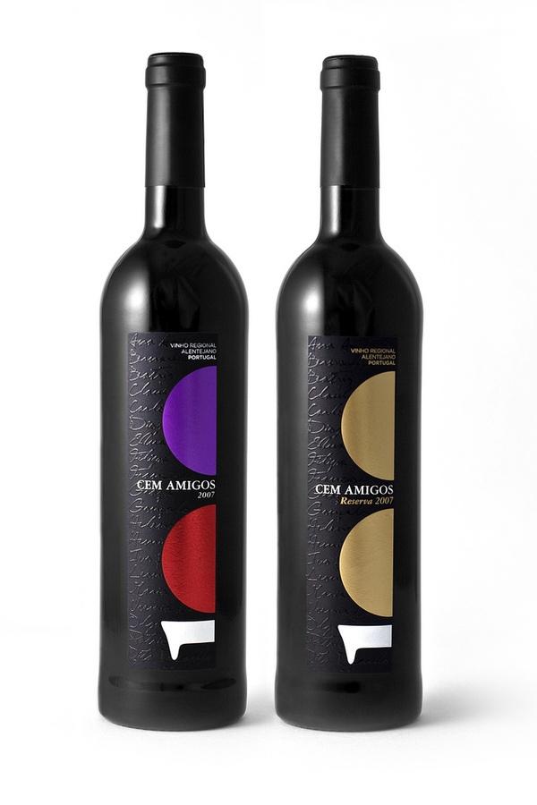 Cem Amigos Wine Branding and Packaging by MusaWorkLab , via Behance