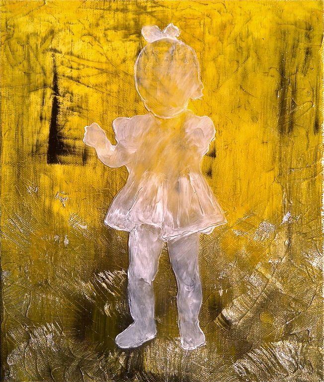 """Saatchi Online Artist: Pernilla Iggstrom; Mixed Media 2012 Painting """"'Det Var En Gang (Mirage)'"""""""
