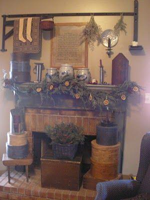 169 best primitive fireplaces images on pinterest primitive prim mantle primitive fireplacefarmhouse teraionfo