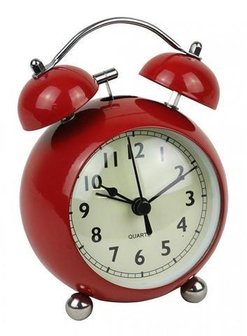 Red Retro Alarm Clock - The Hippie House