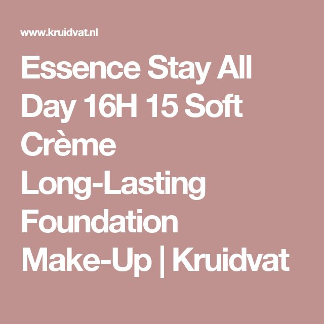 Essence Stay All Day 16H 15 Soft Crème Long-Lasting Foundation Make-Up | Kruidvat