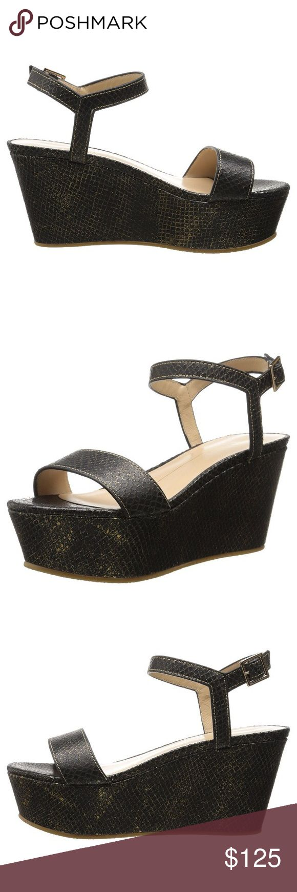 Lola Cruz Women's Detailed Wedge Sandal Brand new, in the original box with dust bag and card. It is size 38 EU. Would fit 6.5 -7 US Lola Cruz Shoes Sandals