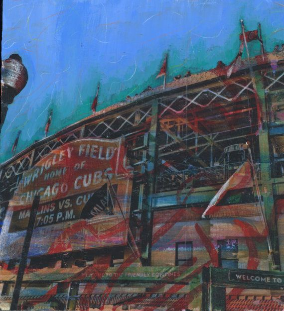 Wrigley Field Playoffs Marquee Cubs V. Marlins By Chicagoscapes Chicago  Cubs Art Chicago Cubs Gift Part 44