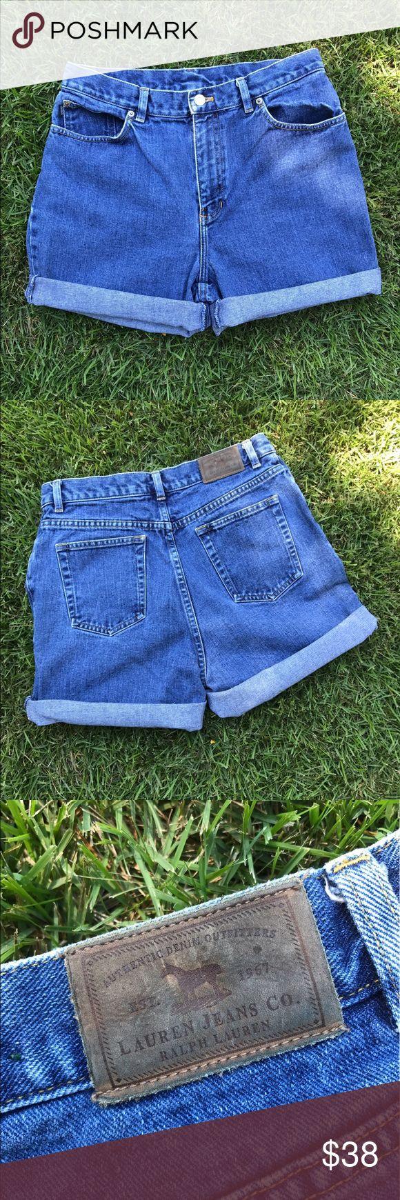 Vintage Ralph Lauren Shorts Super high waisted Ralph Lauren shorts. Waist size 30 and a women's size 10, but fits an 8 as well. Feel free to make an offer! Ralph Lauren Shorts Jean Shorts