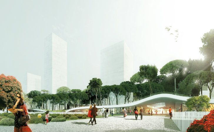MVRDV Unveils Plans for an Underground Shopping Mall Topped Wi...