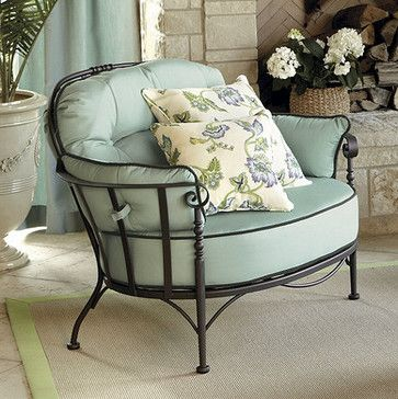 Corsica Lounge Chair - traditional - outdoor chaise lounges - Ballard Designs