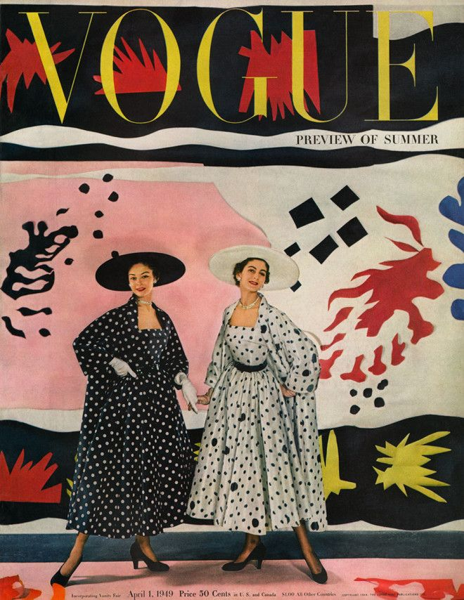 Cecil-Beaton's Matisse-inspired cover for Vogue