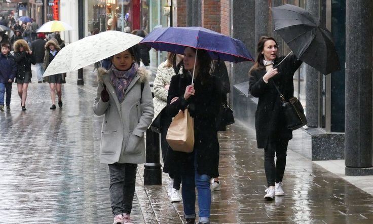 Forecasters say wet and windy conditions on Saturday could be followed by thunder and hail on Sunday