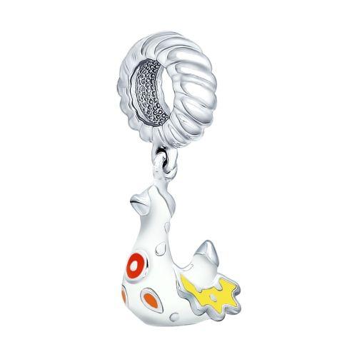 Купить серебряный шарм с эмалью арт. 94031601