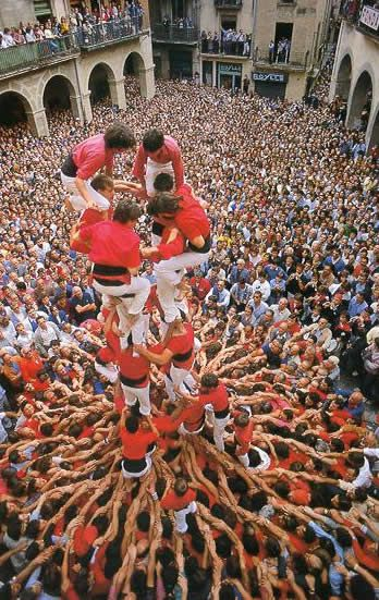 """Minyons of Terrassa"" (colla castellera), in Catalonia where groups of young people mount to form human castells (castles)."