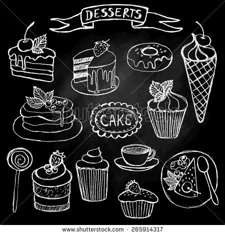 Stock Images similar to ID 169297445 - ice cream hand drawn chalkboard ...