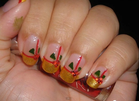 53 best christmas nail design images on pinterest black 10 easy christmas nail designs prinsesfo Choice Image