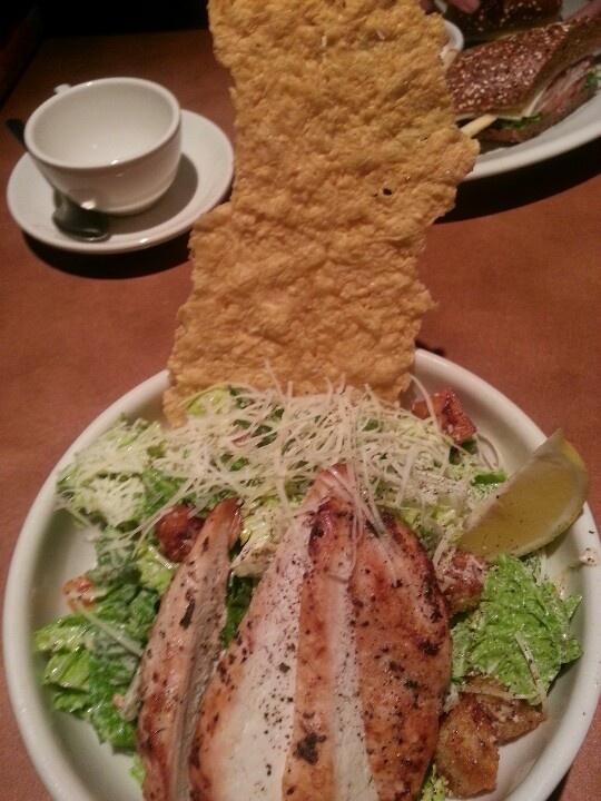 Nordstrom roasted chicken ceaser salad with parmesan crisp..bomb.com