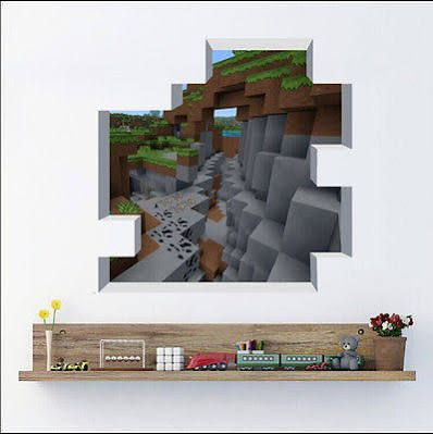 minecraft wall decals - Diy Entfernbarer Backsplash