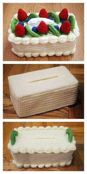 Cake Tissue Box Cozy Free Crochet Pattern
