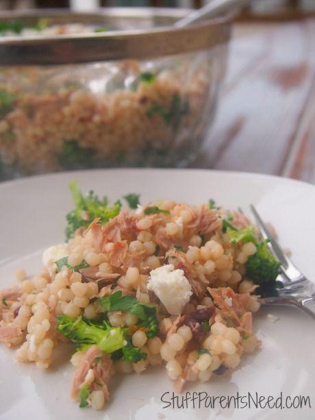 Healthy Tuna Recipes: Mediterranean Tuna Salad with Couscous. Cheap, healthy, delicious!