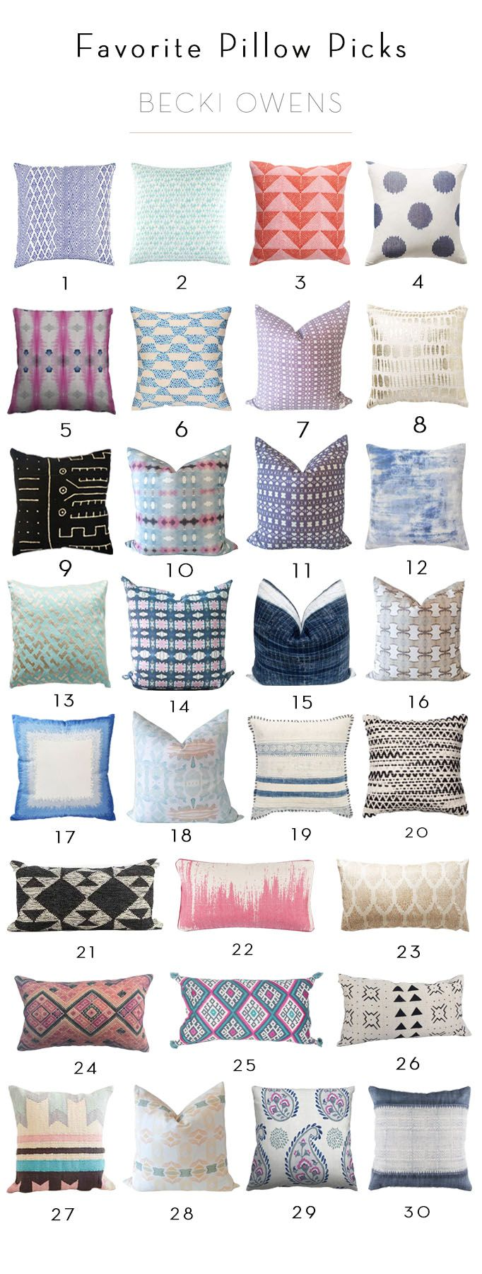 Today I'm sharing a tip on how to pick pretty throw pillows. One reason I love to work with a neutral palette is I can have a lot of fun with colorful, unique textiles.