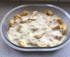 Rezept Tortellini mit Sahne-Soße und rohem Schinken - auch zum Überbacken geeignet von katinka66 - Rezept der Kategorie sonstige Hauptgerichte