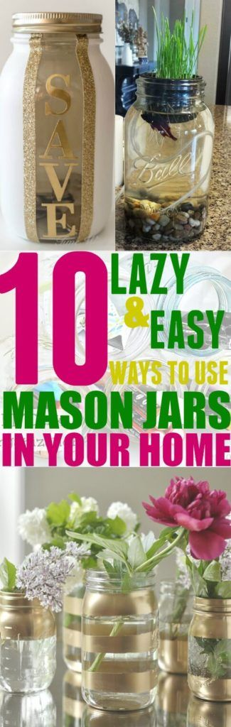 These 10 Mason Jar hacks are great to use around the house! I never knew about these hacks until I read this post! Pinning for later!!