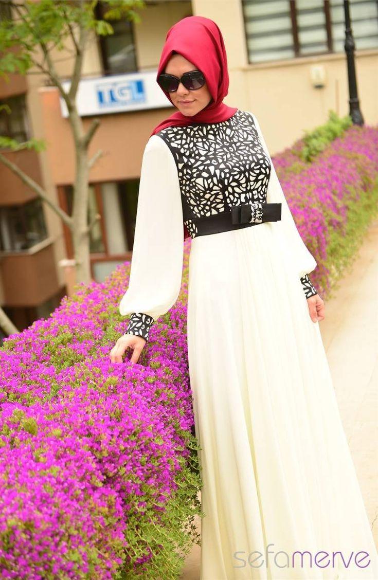 Sefamerve Abiye Elbiseler PDY 4201-04 Krem