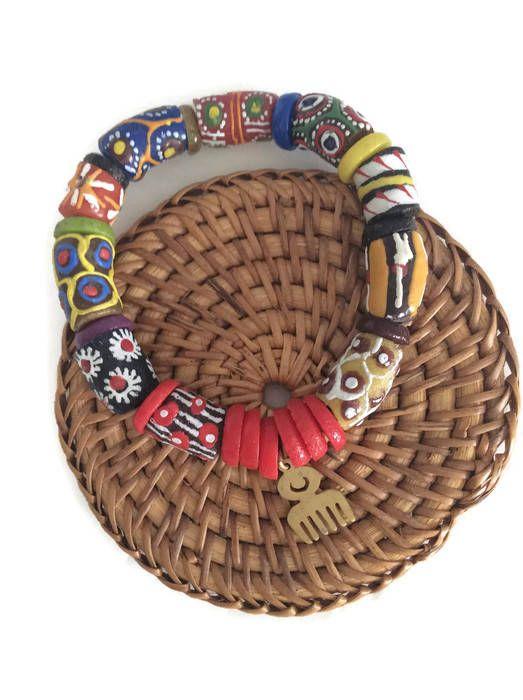 Check out Adinkra Charm Mens Beaded Bracelet, Stretch Fit Beaded Bracelet, African Mens Jewellery, African Clothing, Beaded Bracelet, Gift For Him in my Etsy shop today!⚡️ https://www.etsy.com/listing/538219605/adinkra-charm-mens-beaded-bracelet?utm_campaign=crowdfire&utm_content=crowdfire&utm_medium=social&utm_source=pinterest