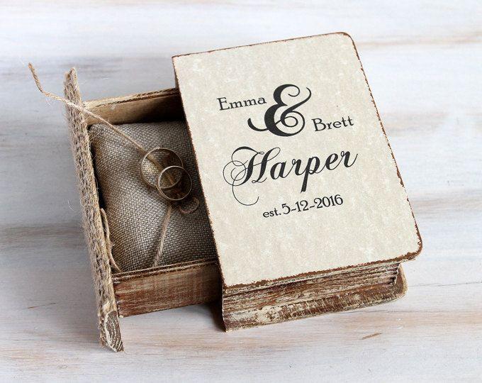 Rustic ring bearer box Wedding ring box Personalized wedding