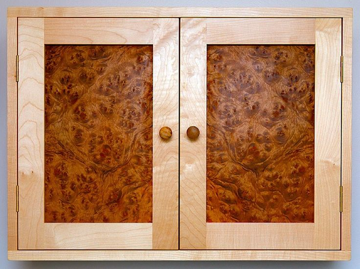 Sycamore and Golden madrone medicine cabinet.