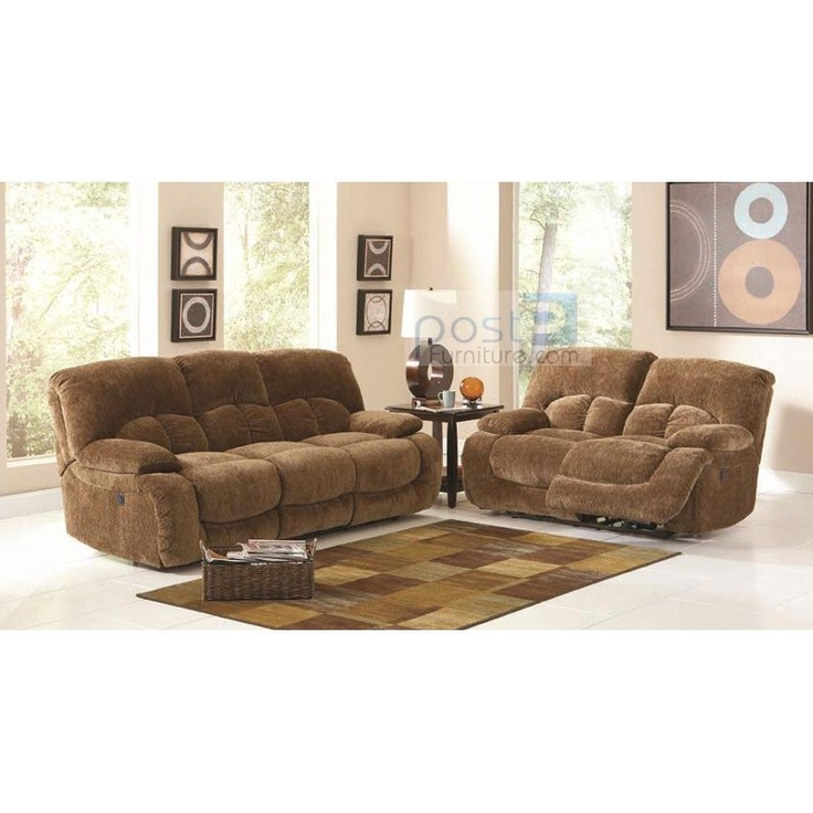 c600711set fawn brown velvet ultra plush power motion 100 replacement warranty double recliner sofa