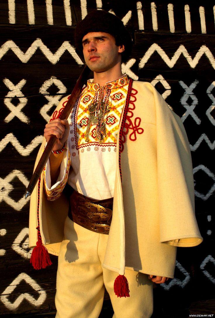 Čičmanský mužský kroj sviatočný - traditional Folk costume Čičmany, Slovakia
