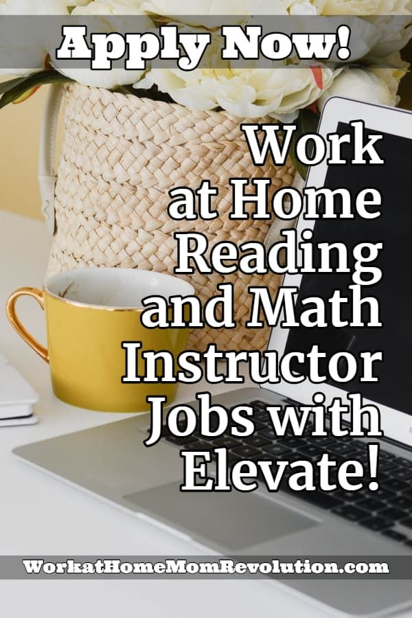 Virtual Reading And Math Instructor Jobs With Elevate Learning In