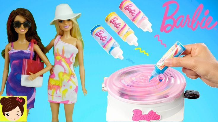 propiedad clara anelisse Diseñamos Vestidos de Barbie con Pinturas - Juego de Moda Barbie Gira y Diseña