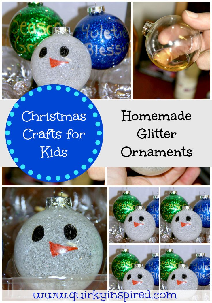 These fun Christmas crafts for kids are so easy. It's a great glitter ornament that will bring back memories every year you and your kids see them!